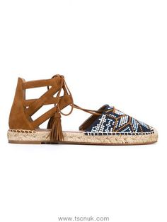 The Introduction Of New Women Aquazzura Belgravia Embroidered Suede Espadrilles In Brown 19875834