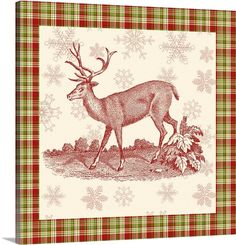 """Reindeer Toile II"" by Vision Studio via @greatbigcanvas available at GreatBIGCanvas.com."
