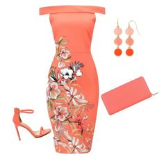 """Coral night out"" by louise-freeman on Polyvore featuring Liz Claiborne and Anne Klein"