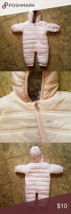 Eddie Bauer 3-6 months NWOT puffy jacket Light pink zip up jacket for 3-6 month old baby! Never used simply adorable! Eddie Bauer Jackets & Coats Puffers
