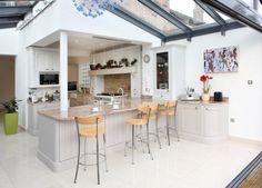 Open Plan Glass Kitchen Extension