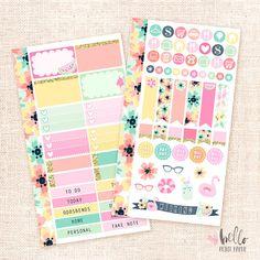 Poolside Personal planner sticker kit by HelloPetitePaper on Etsy
