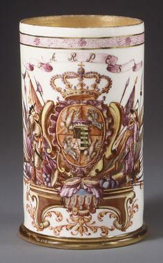 Beaker with cover :Meissen Manufactory Date:ca. Medium:Hard-paste porcelain Dimensions:H. Colors Of Fire, Objet D'art, Old Antiques, Antique Art, Art Decor, Glass Art, Old Things, Pottery, China