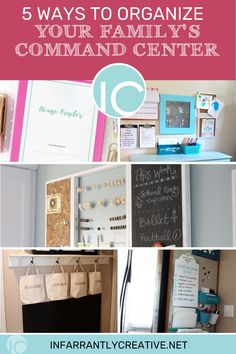 The Army, NASA, and any busy family have one thing in common: they all need a central command station, a dedicated space to do that planning. Creating a household command center is one way to keep you organized! I've found five great ways that you can create your own family central command station–on a budget–with easy-to-find supplies. Organization Station, Binder Organization, Knock Off Decor, Family Schedule, S Planner, Family Command Center, Home Binder, Household Budget, Home Management