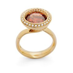 Reflect Cinnamon zircon and diamond #ring by Andrew Geoghegan
