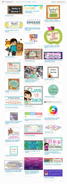 600+ Teacher blogs all in one place - Create a free account to add your site to the list today! If your favorite blogs are already featured, share some of their top posts or leave a comment and let others know why you like it.