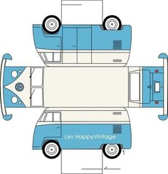 Sarah Pinyan posted paper toy VW to her -Papercraft- postboard via the Juxtapost bookmarklet. Paper Car, Paper Toys, Diy Paper, 3d Templates, Rainy Day Fun, Rainy Days, Paper Cutting, Free Printables, Diy Crafts