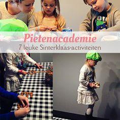 7 leuke Sinterklaas-activiteiten; de Pietenacademie: - Pietenmutsen knutselen - Sinterklaasliedjes raden - Cadeautjes inpakken - Op het dak lopen oefenen - Precisie strooien - Pepernoten bakken - Pietenquiz Yoga For Kids, Diy For Kids, Crafts For Kids, Saint Nicholas, Babysitting, Projects, Blog, Inspiration, Stage