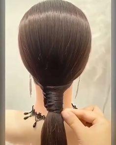 Bun Hairstyles For Long Hair, Braided Hairstyles, Hair Style Vedio, Hair Tutorials For Medium Hair, Hair Upstyles, Front Hair Styles, Hair Videos, Hair Hacks, Natural Hair Styles