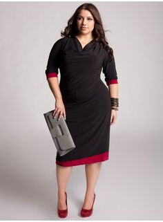 This Trendy Plus Size Dresses With Sleeves was upload on August 2016 by fashionstylesite and you can see Trendy Plus Size Dresses With Sleeves 3700 end more at Modern Fashion Style. Dressy Outfits, Chic Outfits, Fashion Outfits, Plus Size Work Dresses, Plus Size Outfits, Curvy Girl Fashion, Plus Size Fashion, Modest Fashion, Black Dress With Sleeves