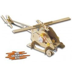 Velleman Coptermech Motorized Wooden Kit This kit helps beginners learn how transmissions work. The Velleman makes learning fun with in a helicopter shape. Fun Learning, Kids And Parenting, Kit, Shapes, Wood, Woodwind Instrument, Timber Wood, Trees