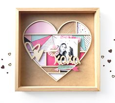 Lovely idea for a Christmas gift, maybe as something for kids to make for grandparents. A frame could be made from cardstock instead of wood and added to a photo frame.