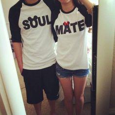 cute couple t-shirt..soul-mate