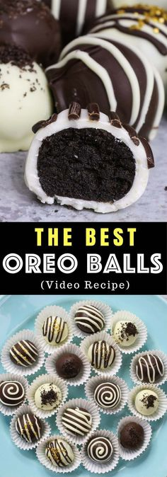 The Best Oreo Balls - the easiest and most beautiful dessert you will ever make! Only 4 ingredients required: Oreos, cream cheese, white chocolate and dark semi-sweet chocolate. Sprinkles are optional. Oreo crumbs are mixed with creamy cheesecake, and then covered with melted chocolate. So Good! Quick and easy recipe, party desserts. No Bake. Vegetarian. Video recipe.   Tipbuzz.com