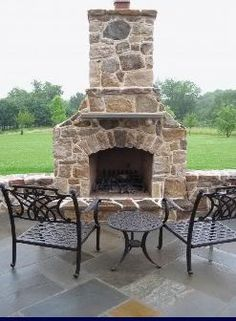 LBG | Outdoor Fireplace Chester County PA | Outdoor Fire Rock Chester County Pennsylvania | InsideOutAdditions.com