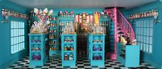 Candy Room, Toy House, Book Corners, Vintage Candy, Doll Furniture, Dollhouse Miniatures, Hogwarts, Honey Dukes, Camper Decorating