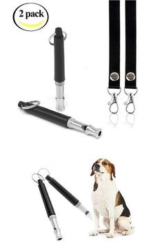 HiSung Dog Whistle to Stop Barking, Adjustable Pitch Ultrasonic training tool Silent Bark Control for Dogs- Pack of 2 PCS Whistles with 2 Free Lanyard Strap Dog Training Tools, Best Dog Training, Dog Whistle, Shock Collar, Whistles, Pitch, Small Dogs, Best Dogs, Collars