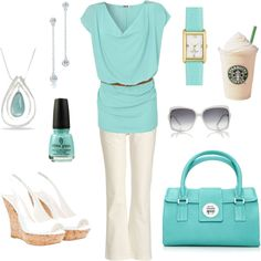 I am pinning this because of the Latte...now a staple in a spring outfit...hmmm
