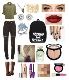 """""""Untitled #494"""" by oliviamarvel on Polyvore featuring Yves Saint Laurent, Bandolino, Michael Kors, Charlotte Russe, Dolce&Gabbana, alfa.K, Sephora Collection, Clinique, Rimmel and Bobbi Brown Cosmetics"""