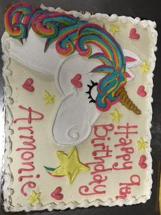 Unicorn Sheet Cake Animal Cakes, Unicorn, Happy Birthday, Party, Happy Aniversary, Happy B Day, Receptions, Direct Sales Party, Unicorns