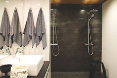 modern bathroom and sauna Bathroom Interior, Modern Bathroom, Bathroom Hooks, Bathroom Ideas, Tiles, Sweet Home, Bathtub, Interior Design, Showers