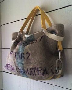 Tote {made from a recycled burlap coffee bag}