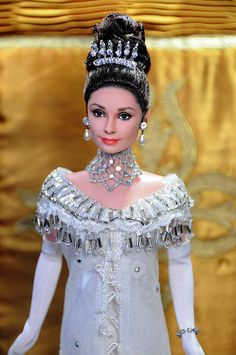 "custom repaint and hair restyle (Audrey Hepburn in ""My Fair Lady"") by ncruzdolls, via Flickr"