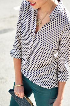 I have a silk blouse very similar to this one. Been trying to figure out a way to wear it.