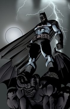 Batman on a gargoyle while lightning strikes in the background. Can it get anymo - Batman Poster - Trending Batman Poster. - Batman on a gargoyle while lightning strikes in the background. Can it get anymore Badass than this? Batman The Dark Knight, Batman Dark, I Am Batman, Batman Stuff, Batman Poster, Batman Artwork, Batman Wallpaper, Batman Drawing, Comic Book Characters