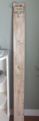 I want to make a growth chart that we can take with us instead of writing on a closet wall in the house!
