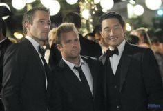 Alex O'Loughlin, Scott Caan and Daniel Dae Kim from Hawaii Five-0.