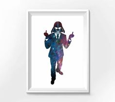 Poster  Darth Vader Finger - Hey You - A4 - R$ 25