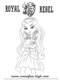 Raven Queen coloring page