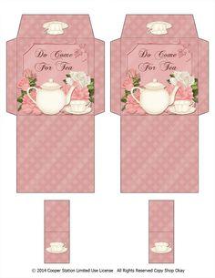 Digital Printable Tea Bag Wrapper