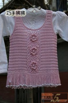 Tunic with a floral motif..Japanese chart