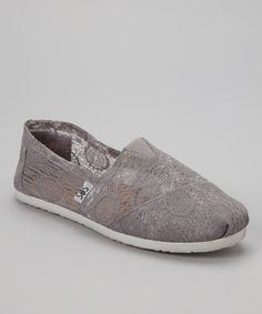 Take a look at this Gray Lace Slip-On Shoe on zulily today!