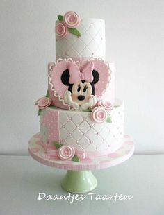 Beautiful Cake Pictures: Quilted Minnie Mouse Birthday Cake - Birthday Cake, Colorful Cakes, Themed Cakes -