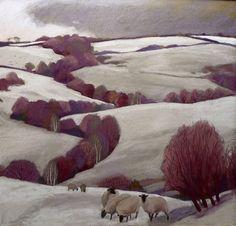 Sue Campion RBA. (English, born 1944) 'Stormy Sky, Castle Pulverbach'