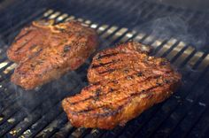 Smoked Butter-Basted Porterhouse Steak. This is a quick and tasty weeknight meal on your grill.