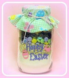 Cute little easter gift idea for childrens classmates teachers the perfect easter gift idea from super saturday crafts cookies in a jar ingredients with a springtime design negle Gallery