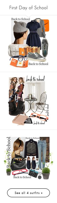 """""""First Day of School"""" by fashionstar40 ❤ liked on Polyvore featuring Scale 1:1, Eugenia Kim, Antonio Berardi, Christopher Kane, Zara, Mimco, Giorgio Fedon 1919, CÉLINE, Pine Cone Hill and Cyan Design"""