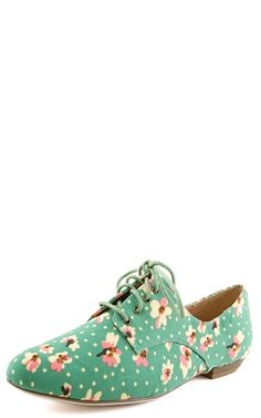 Plus2 Floral Lace Up Casual Shoes TEAL
