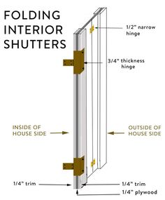 How to Build Interior Shutters. Interior shutters are the minimalist solution for a heritage home. Wooden Window Shutters, Window Shutters Exterior, Indoor Shutters, Wooden Windows, Custom Windows, Window Shutters Inside, Bay Windows, Exterior Paint, Exterior Design