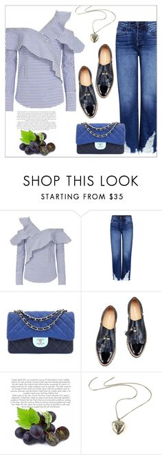 """""""Add Some Flair: Ruffled Tops"""" by amchavesj-1 ❤ liked on Polyvore featuring self-portrait, 3x1, Chanel and ruffledtops"""