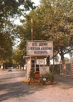 Sheridan Kaserine, (American Army Base) in Augsburg, Germany  1990-91