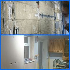 1st fix before & after plastering.