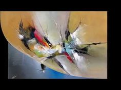Abstract acrylic painting - Démonstration peinture abstraite (9) Althea - YouTube