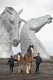 This is a monument to horses somewhere in Scotland. Fantastic!