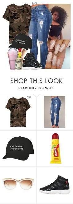 I gotta make more camo sets  by saucinonyou999 on Polyvore featuring Aéropostale, Alexander McQueen, Carmex and NIKE