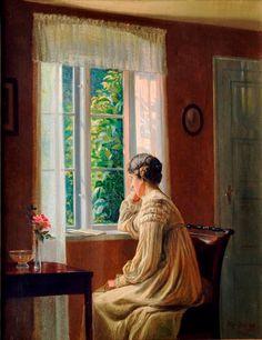 Distraction ~ Karl Harald Alfred Broge ~ (Danish, 1870-1955)